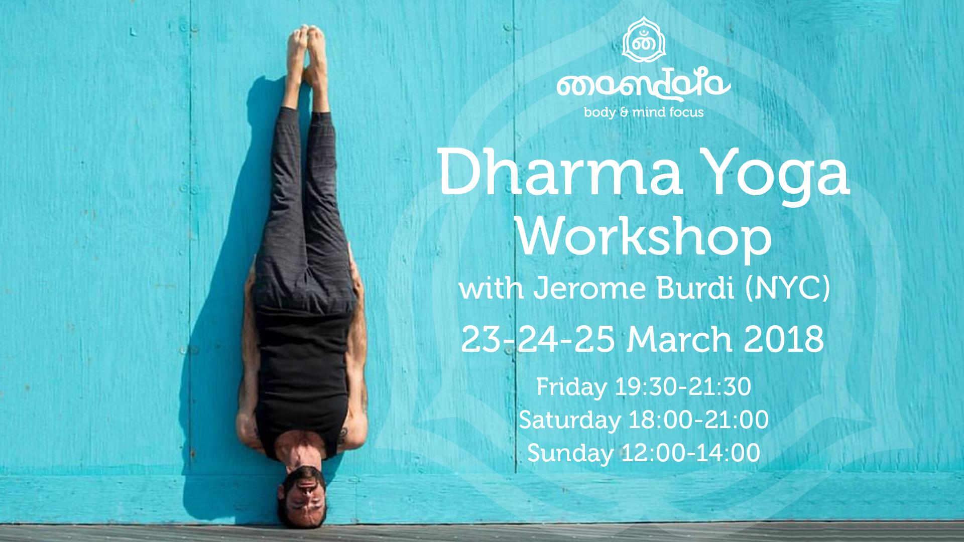 Dharma Yoga Workshop with Jerome Burdi (NYC)